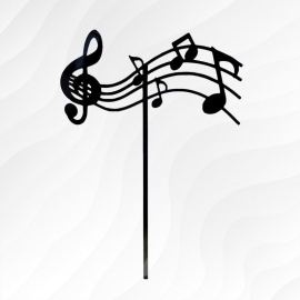 Topper notas musicales